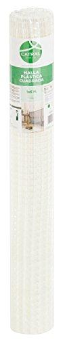 Catral 52010016 Rouleau de Grillage à Maille carrée Blanc 0,2x300x100cm