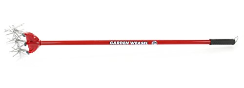 """Garden Weasel Cultivator – Break Up Soil, Detachable Tines, Long Handle, 54.5"""" Long 7 Save time, effort, and your back! – sometimes the simplest ideas are the Best. This durable and easy-to-use cultivator breaks up soil with ease and cleans itself with each turn, saving your time and body at a very affordable cost! Easy to use – simply apply the Garden Weasel to the soil and cultivate with a back-and-forth motion. For easier cultivating, slightly wet the soil. Detach 1 or 2 tines for work between narrow garden rows. Grow healthier plants - cultivating allows moisture and air to get below the packed soil, yielding healthier plants and roots. It also helps to conserve water Because water won't run off cultivated soil like it does hard-packed soil."""