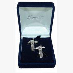 Pour téléphone portable, cadeau Boutons de manchette Best Man/Usher, livrés dans un sachet en Organza