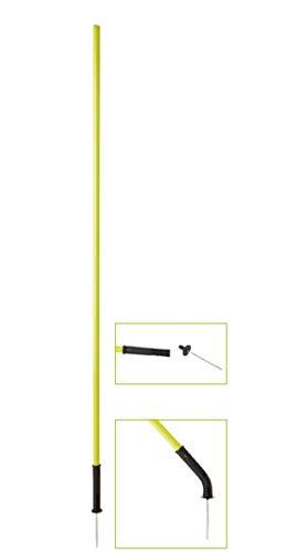 Visiodirect Piquet de Slalom avec Articulation, Coloris Jaune -Dimensions : Longueur : 1,60 m Diamètre : Ø 25 mm.