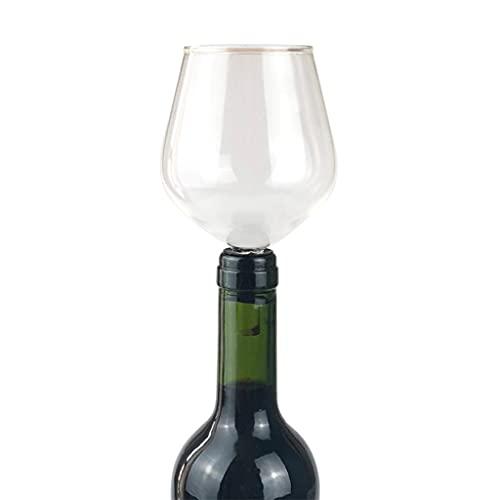 Cife Seguridad para Beber Directamente De La Botella Copa De Vino Tinto Copa De Champán Artículos De Bar Juego De Whisky Redondo Copas De Silicona Amante del Vino Perezoso
