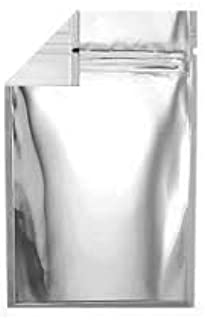 100 Clear/Silver Mylar Storage Bags ziplock Heat-Seal Strong Quality with Base- 20cm x 30cm x 5cm 8