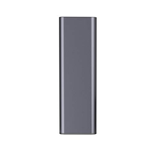 Portátil Simple Caja de lápiz de los Efectos de Escritorio del Estudiante de Hierro Creative Box Metal de Aluminio Multifuncional Estudiantes universitarios de lápiz del Bolso (Color : Gray)