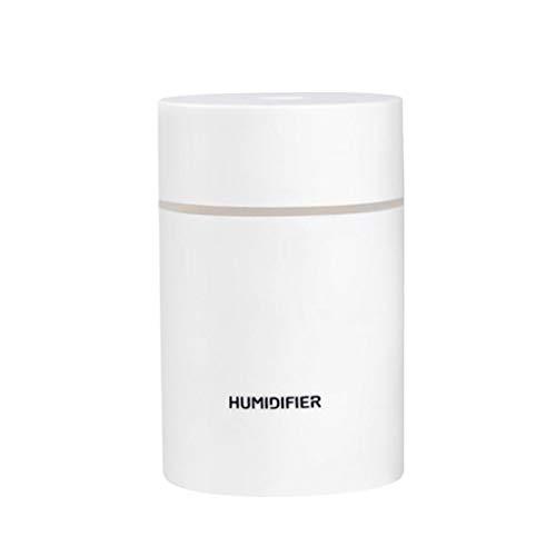 perfk Humidificador de Aromaterapia Portátil USB Aroma Difusor de Aceite Esencial Nano Humidificación de Aire para Decoración de Dormitorio con Lámpara de C - Blanco, Individual
