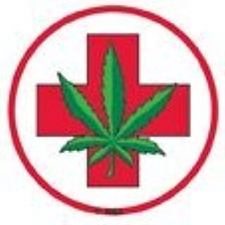 NSI - Medical Marijuana Pot Leaf - Mini Sticker / Decal