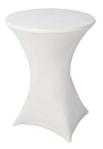gartenmoebel-einkauf Basic Stretchhusse für Stehtisch bis 80cm, Weiss