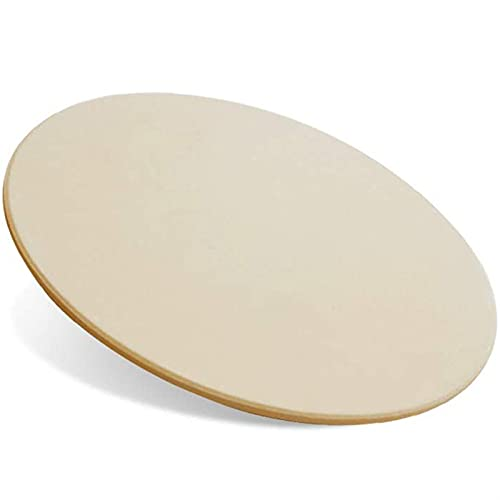 Bandeja Para Pizza,Plato De Pizza Piedra de pizza de 15 pulgadas Piedra de hornear redonda para pan de cerámica Pizza Piedras a la parrilla para cocinar y hornear barbacoa y parrilla (Color : Beige)