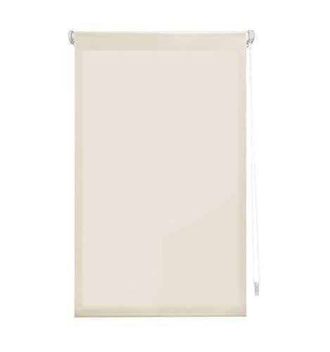 "Blindecor Liso - Aure ""SIN HERRAMIENTAS"". Estor enrollable Traslúcido, beige, 37X180 cm (ancho x alto)"