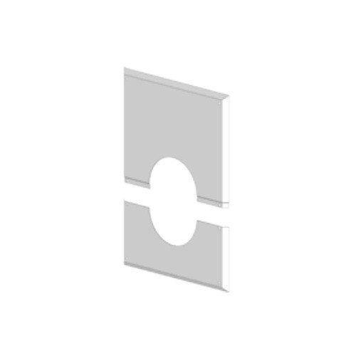ATEC Abgas Wandblende geschlossen 280 x 340 mm DN 60/100 Abgasrohr