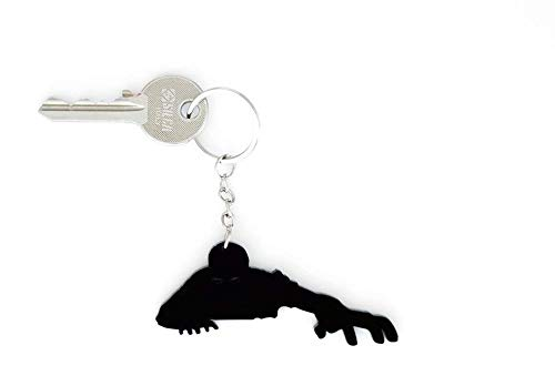 Key chain - Night of the Living Dead Zombies Get Out of the Grave - Silhouette