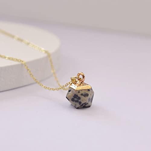 KONZFK collarColar de Pedra de Pedra Natural Colar de Pedra de Pedra de Pedra de Pedra de coração