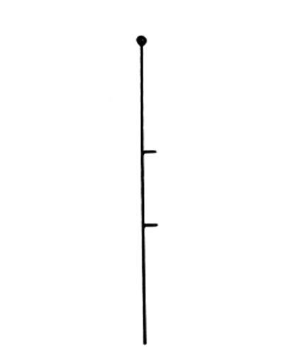 KADAX Blumenstütze, 10 Stück, Pflanzenstütze aus Stahl, Höhe: 50 cm, dekorative Stützstäbe für Orchideen, Blumen, Pflanzen, Zimmerpflanzen, Blumentopf, Rankhilfe, Rankstäbe (Kugel)