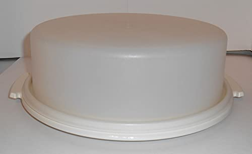 Tupperware Pie Taker 9' White with Sheer Dome NO HANDLE