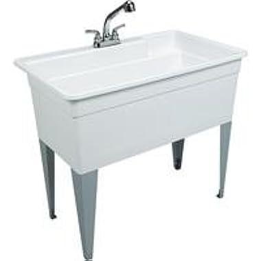 Mustee 28CF Big Tub Utilatub Combo Utility Tub, 24  x 40 , White