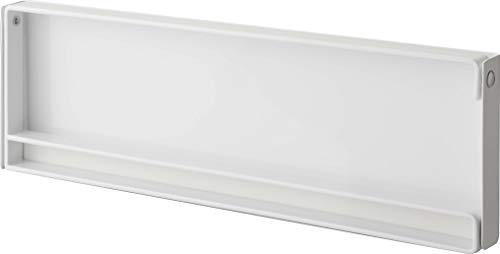 山崎実業(Yamazaki) 片手でカットマグネットキッチンペーパーホルダー ホワイト 約W30.5XD2.5XH9.5cm タワー 海外製の大判タイプにも対応 4941