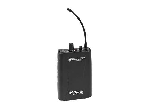 OMNITRONIC WMR-2M UHF-Empfänger, mono | Mono-Audio-Funkübertragungssystem, 823-832 MHz + 863-865 MHz