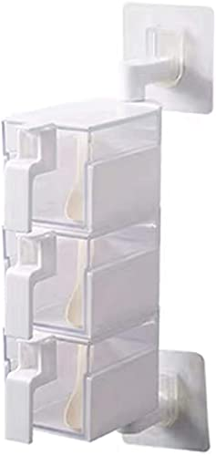 JYDNBGLS Caja de especias giratoria creativa para condimentos, caja de moda, sin azúcar, montado en la pared, caja de almacenamiento de cocina con cuchara para condimentos
