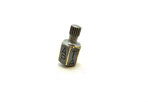 TEETOTUM | GAMBLING TOP - SMALL BRASS SPINNING TOP - GIFTS FOR MEN