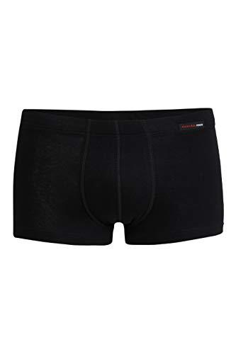 con-ta Pants, Bequeme Unterbekleidung für Herren, eng anliegende Boxershorts, Unterwäsche für EIN zartes Gefühl auf der Haut, in Schwarz, Größe: 8/XXL