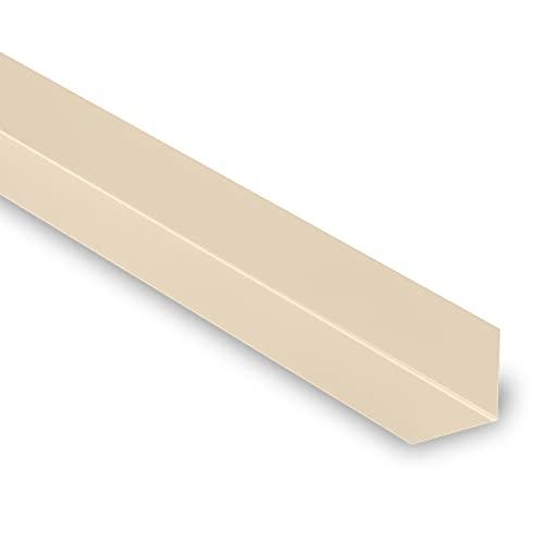 Cornière Angle Sortant 90° - Cornière Acier - 2100x80x80 mm - Recouvrement Transversal 100 mm - Acier Laqué 0,50 mm - Revêtement Polyester 25µm - Garantie 10 Ans - Beige RAL 1015 - YOUSTEEL