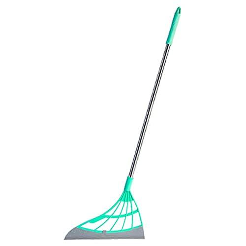 Escoba Magic Wiper Escoba Limpie Fregona de silicona para lavar el piso Herramientas Limpias Ventanas Raspador de Pelo de Mascota Antiadherente Secado Rápido (Color: Azul)