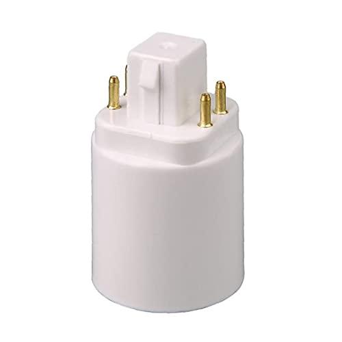 Adaptador de lámpara de luz LED GX24Q-E27 Bulbo Soporte Convertidor de zócalo 4 Pin adecuado para uso de oficina