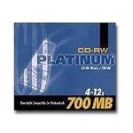CD-RW 80 4-12x Platinum Label 700MB 1 pi�ce