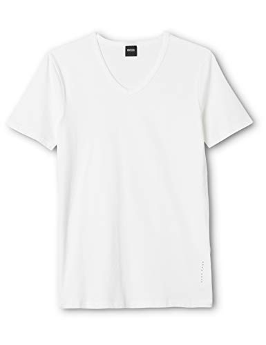 BOSS Herren VN 2P CO/EL T-Shirts, Weiß (White 100), XX-Large (2er Pack)