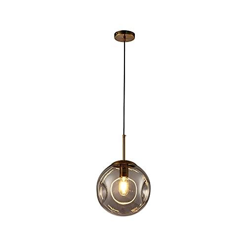 SDFDSSR Lámpara De Techo Simple Lámpara De Araña Cóncava Convexa Creativa Lámpara Colgante Gris De Vidrio Individual Lámpara Colgante E27 Adecuado para Restaurante Balcón Bar Bar Estudio (20 Cm)