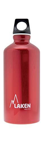Bouteille d'eau en aluminium Futura de Laken avec bouchon à vis et goulot étroit, Gourde Alum 0,6 Litre, Rouge
