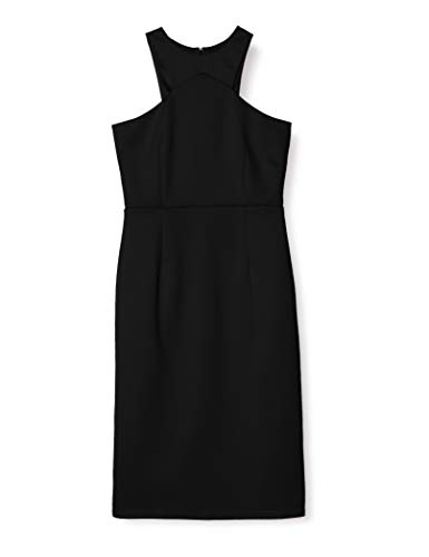 Marca Amazon - TRUTH & FABLE Vestido Mujer Asimétrico, Negro (Black), 34, Label: XXS
