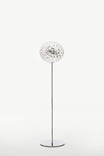 Cartel planet, Armature : aluminium moulé sous pression, poli ou laqué - Abat-jour : technopolymère thermoplastique teinté ou transparent, Transparent, 31 x 31 x 130 cm