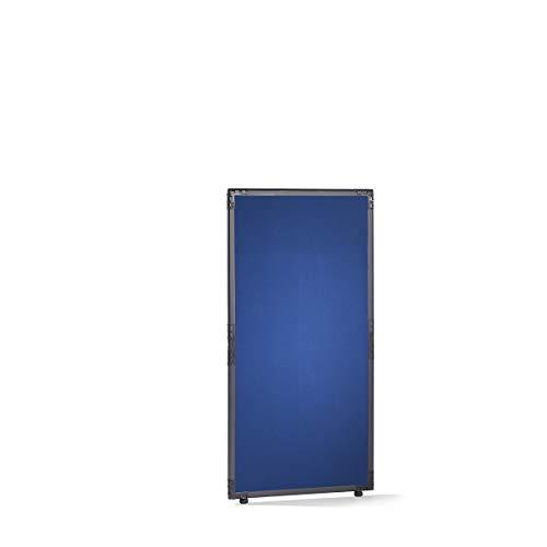 Filz-Raumteiler - Rahmen schiefergrau - blau, HxB 1300 x 650 mm - Absperrung Akustikwand Akustikwände Paneele zur Raumtrennung Raumteilung Raumtrennwand Raumtrennwände Schallschutzwand