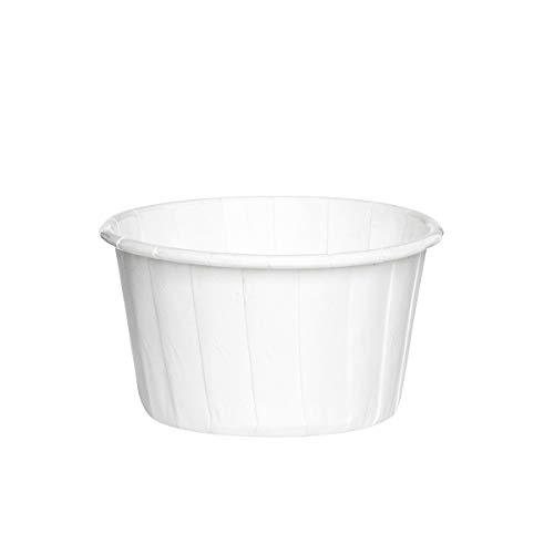 Sugar and Cakes 100 Cupcake Muffin Weiss Papier Backförmchen Backform beschichtet Tasse backfähig benötigt Keine Extra Form