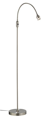 Adesso Home 3219-22 Transitional LED Floor Lamp from Prospect Collection in Pwt, Nckl, B/S, Slvr. Finish, 8.00 inches, 45 in. -56 in