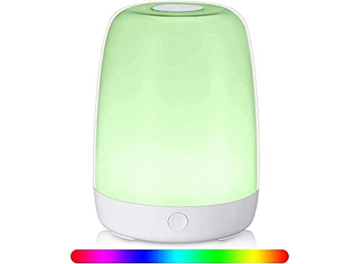 Amexi LED Nachttischlampe,Tischlampen, nachtlicht,dimmbare nachttischlampe,Berührungssensitives Nachtlicht für Schlafzimmer Wohnzimmer und Büro