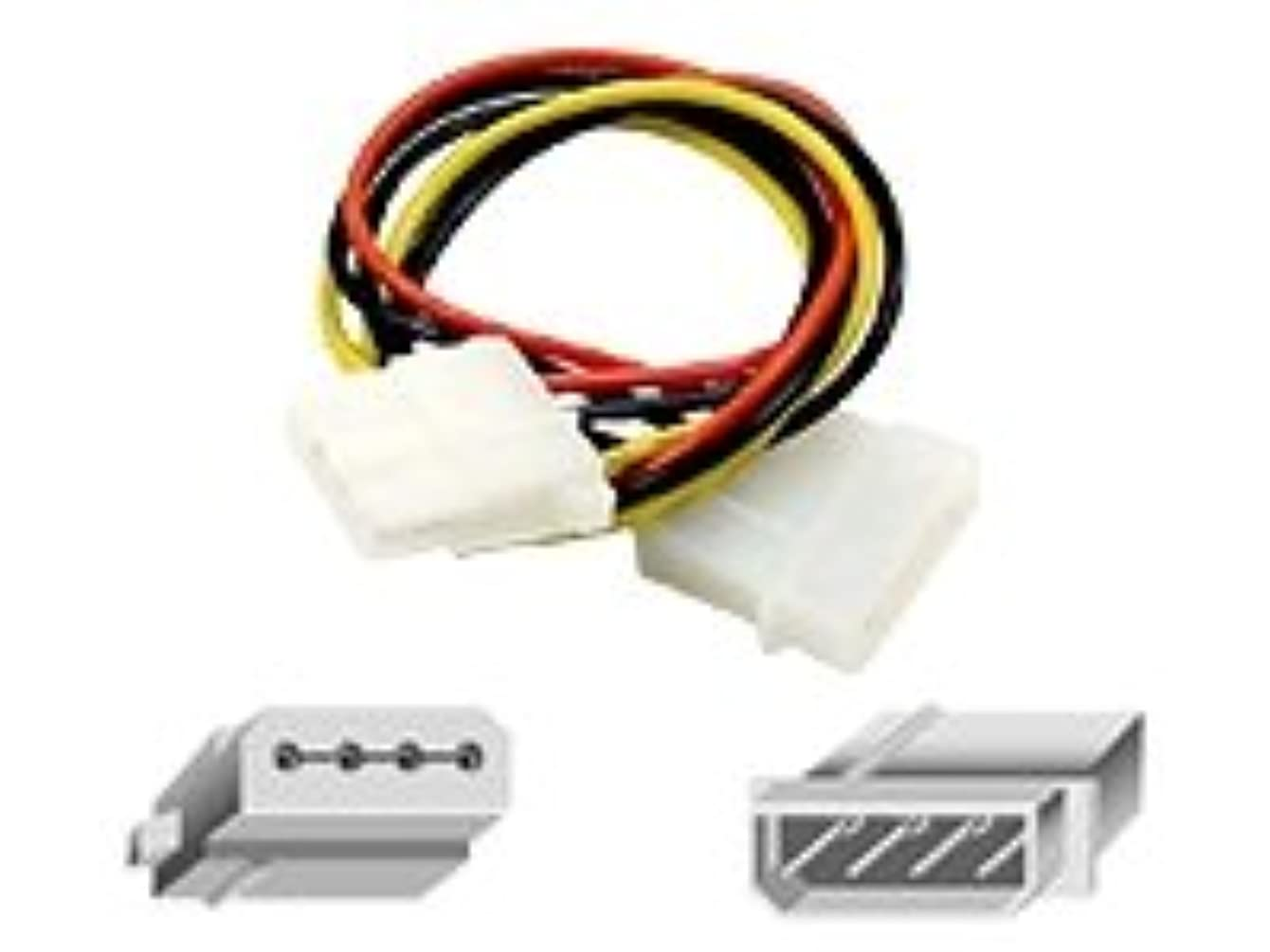 Belkin 1ft Disk Drive Power Extension Cable (4pin M/4 Sok F)
