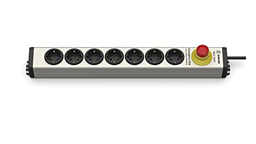 EHMANN Regleta de aluminio 0819x00072033 con interruptor de parada de emergencia de 16 A, para desconexión de dos polos de las ollas