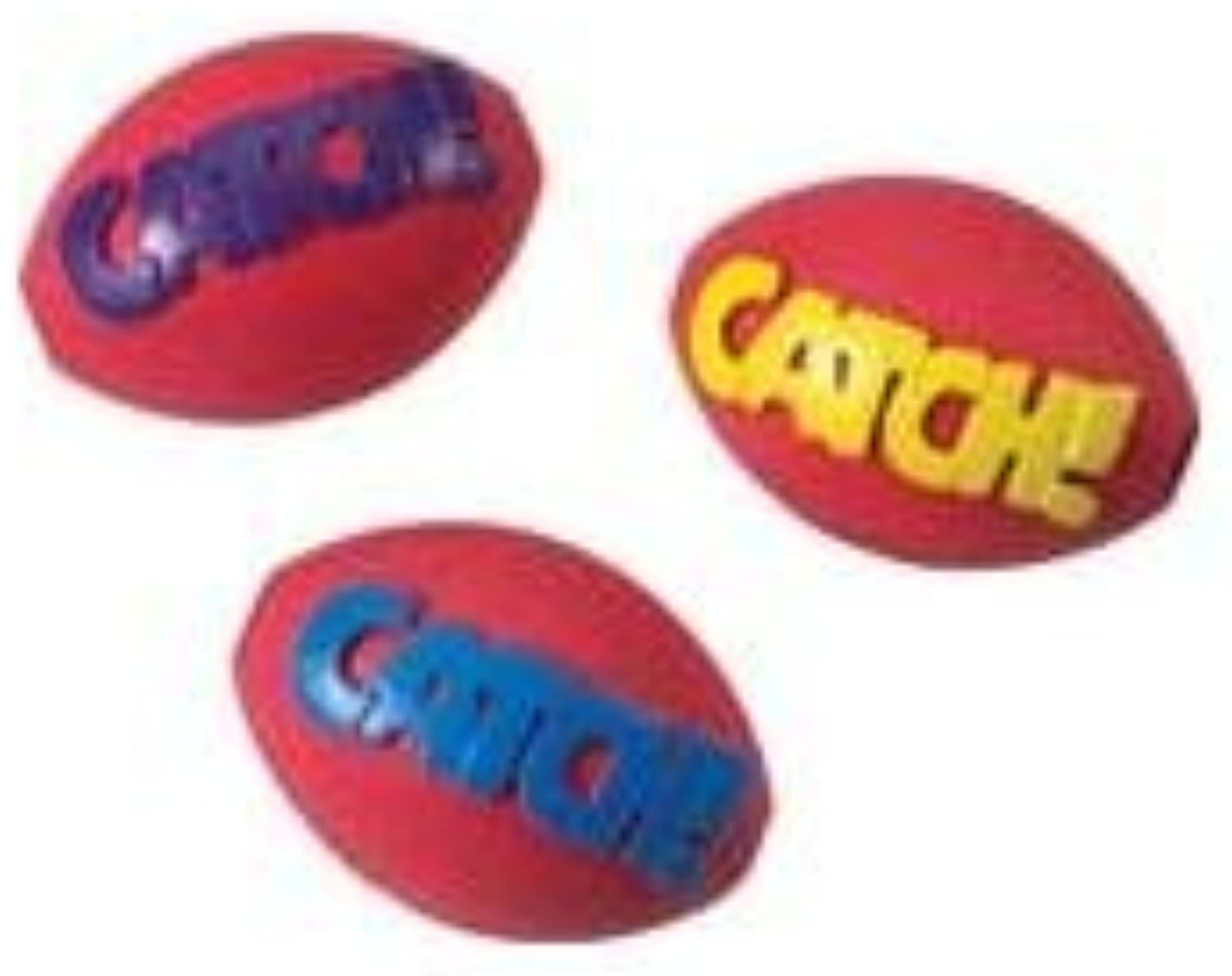 CHOMP & PLAY RUBBER FOOTBALL TOY 2.75 by Ethical Products