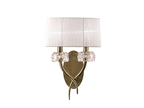 Mantra Iluminación. Modelo LOEWE. Aplique de pared de 31 cm fabricado en acero, k9 y tela acabado en color cuero ✅
