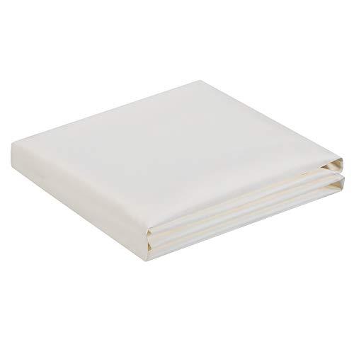 SONGMICS GCO90IV - Pantalla para balcón (protección de privacidad, protector visual sin tornillos, poliéster, para verano e invierno, 600 x 90 cm) Beige Blanco