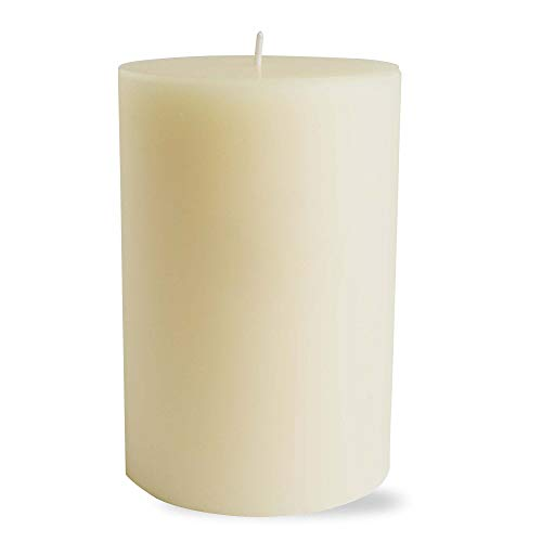 tag Chapel 4x6 Pillar Candle Unscented Drip-Free Long Burning Hours for Home Décor Wedding Parties 4x6 Ivory