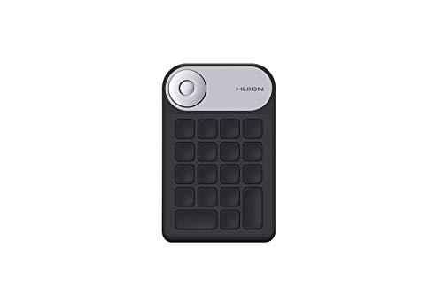 Huion MINI KeyDial KD100 Control remoto inalámbrico,teclado de acceso directo con controlador de marcación+18 teclas personalizadas,teclado portátil para dibujar tableta,PC,computadora portátil,Mac