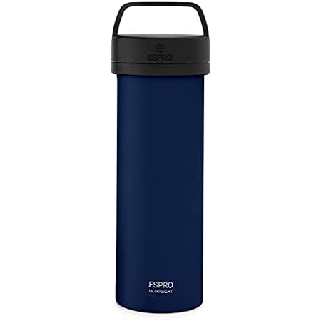 ESPRO Travel French Press Ultralight Mini Coffee Maker with Thermal Function, 475 ml, Blue