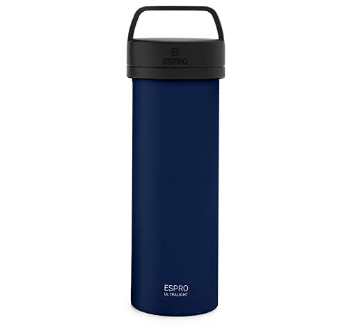 ESPRO P0 Ultralight Double Walled Stainless Steel Vacuum Insulated Coffee French Press, 16 Ounce, Blue