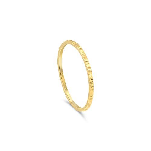 Minimalist Goldring für Frauen, gehämmert. Goldring Damen. Simpler Goldring, Goldschmuck, 18k Gold   Stapelring, Bandring, Damen Stapelring, Ring Damen