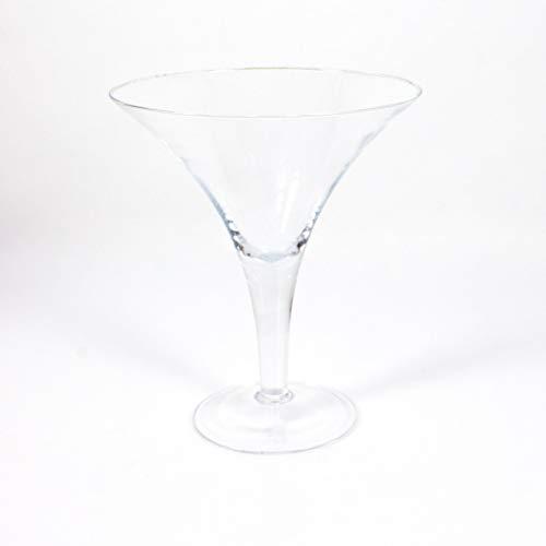 INNA-Glas XL Cocktailglas - Martiniglas Sacha, klar, 30cm, Ø 25cm - Glas Vase