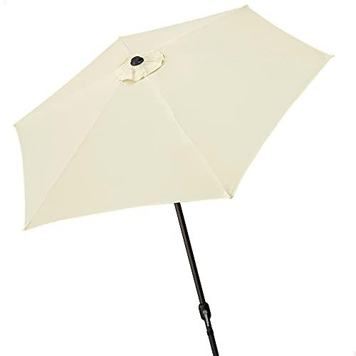 AKTIVE Garden 53866 Parasol hexagonal, diámetro 250 cm, crema mástil aluminio