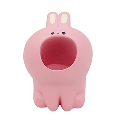 mygzq 2pc Lindo Titular de la Pluma para el Escritorio Animal único un Pluma lápiz Soporte Oficina papelería Suministros Ornamentos (Color : Pink)