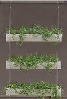 EVERGREEN PLANTS U.V Protected Hanging Plastic Pot Winda 3 Tier